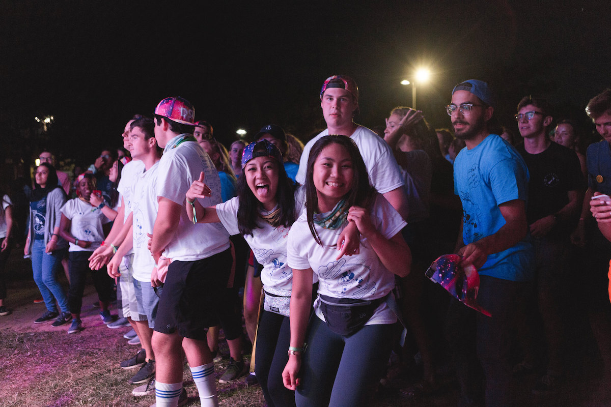 students at concert